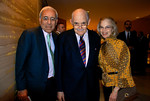 NEW YORK-NOVEMBER 10: Reynold Levy, Julien J. Studley, and Elizabeth Levy attend LINCOLN CENTER For The Performing Arts Fall Gala & Fundraiser Honoring JULIEN J. STUDLEY at  Avery Fisher Hall in New York City on  on Monday, November 10, 2008 (Photo Credit: Christina Nuki)