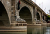 The famous London Bridge as it currently sits in Lake Havasu, drawing attention to the town that paid six million dollars to bring it here piece by piece.
