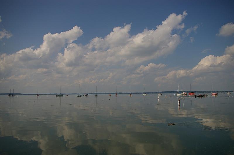Cloud reflections on Lake Mendota