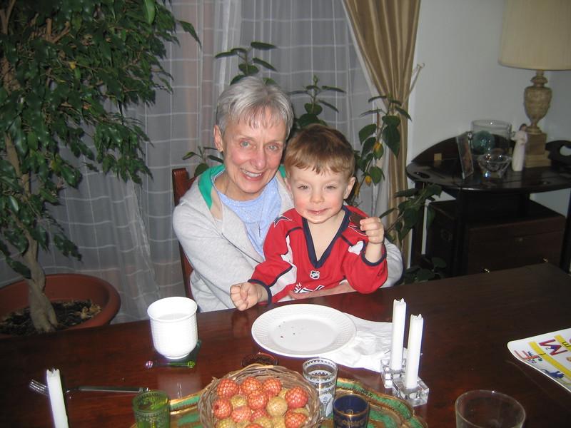 Gramma Millie tries some brownies.