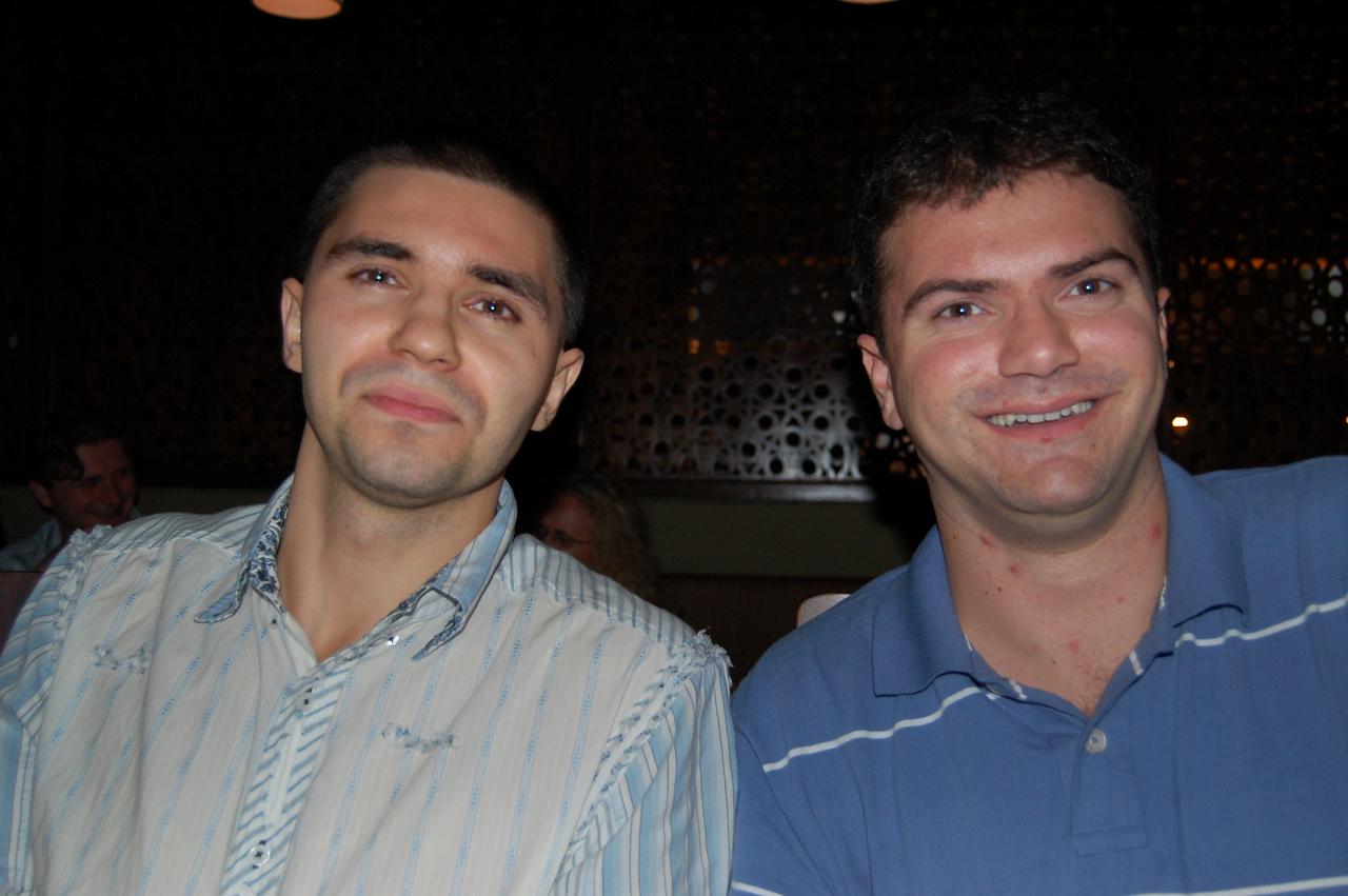 Denis and Matt happy