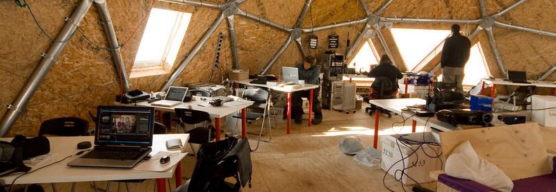 Working area on 1st floor of main dome.<br /> <br /> Kontorområdet på 1.sal i hovedbygningen<br /> Photo: Tim Burton