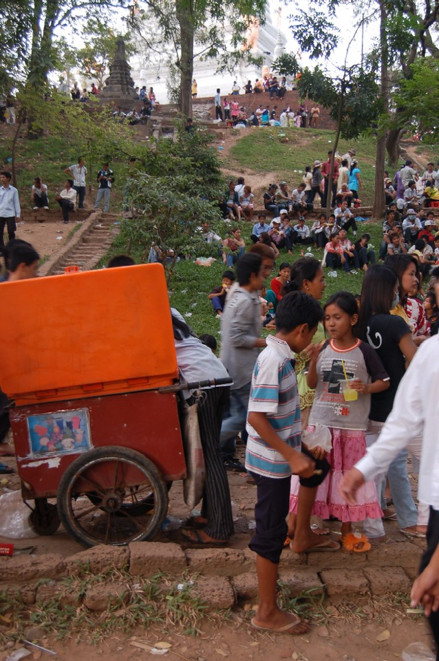 38 cambodians in the park for new year