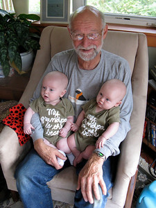 "Matching ""My grandpa is the best"" T's"