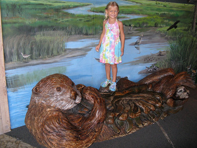 Riding the wooden otter