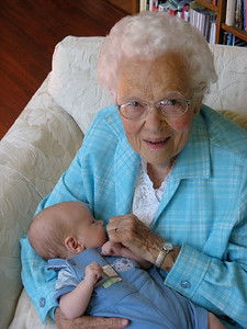 Great Grandma Ginia meets Charlie