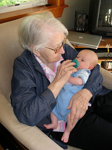 Great Grandma Hopper and Charlie
