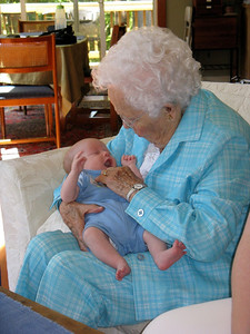 Charlie talks to Great Grandma Ginia