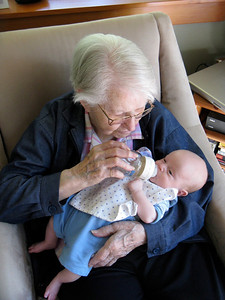 Charlie and Great Grandmother Hopper