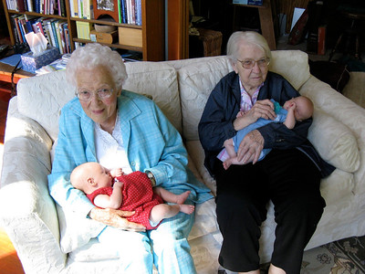 The Great Grandmothers babysit