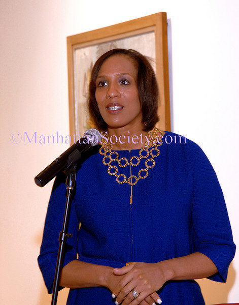 NEW YORK-NOVEMBER 14:  NYJL President Gena Lovett addresses friends and guests at  2009 Outstanding Sustainers and Outstanding Volunteers Announcement and Celebration at Sotheby's, 1334 First Avenue, New York City, NY on Friday, November 14, 2008  (Photo Credit: Christopher London/ManhattanSociety.com)