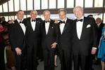 Dean Grossman, Kenneth G. Langone, Tom Murphy, NYU Langone Trustee, John Sexton, President of NYU Langone Medical Center, Martin Lipton, Chair of NYU Downtown (Juliana Thomas)
