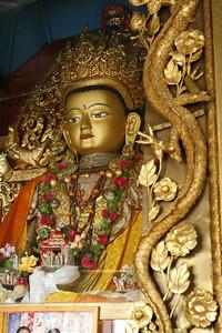 Buddah in the vestibule of a Buddist Monastery.