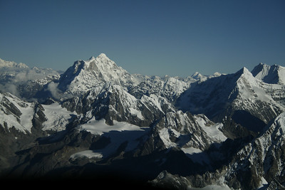 Everest from a plane.