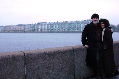 Cameron and Liza Smith, Overlooking the Palace Embankment - Liz Greenberg