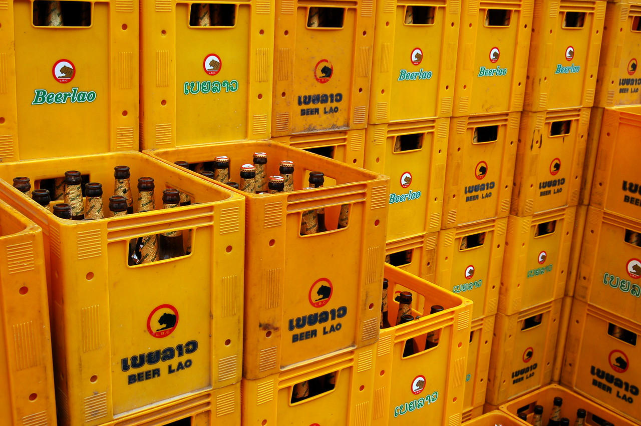 Beerlao crates!