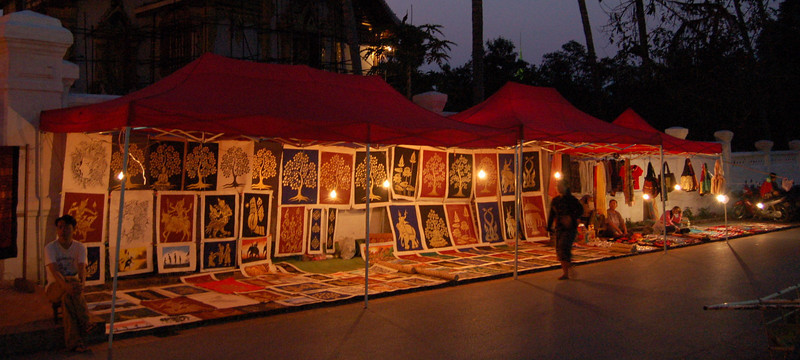 Painting at night market