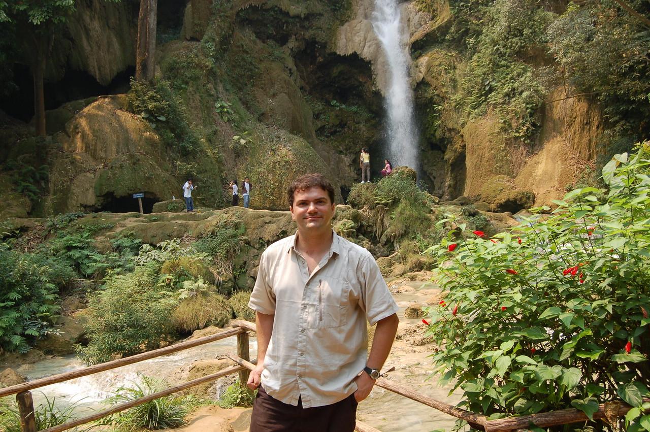 Matt at the waterfall