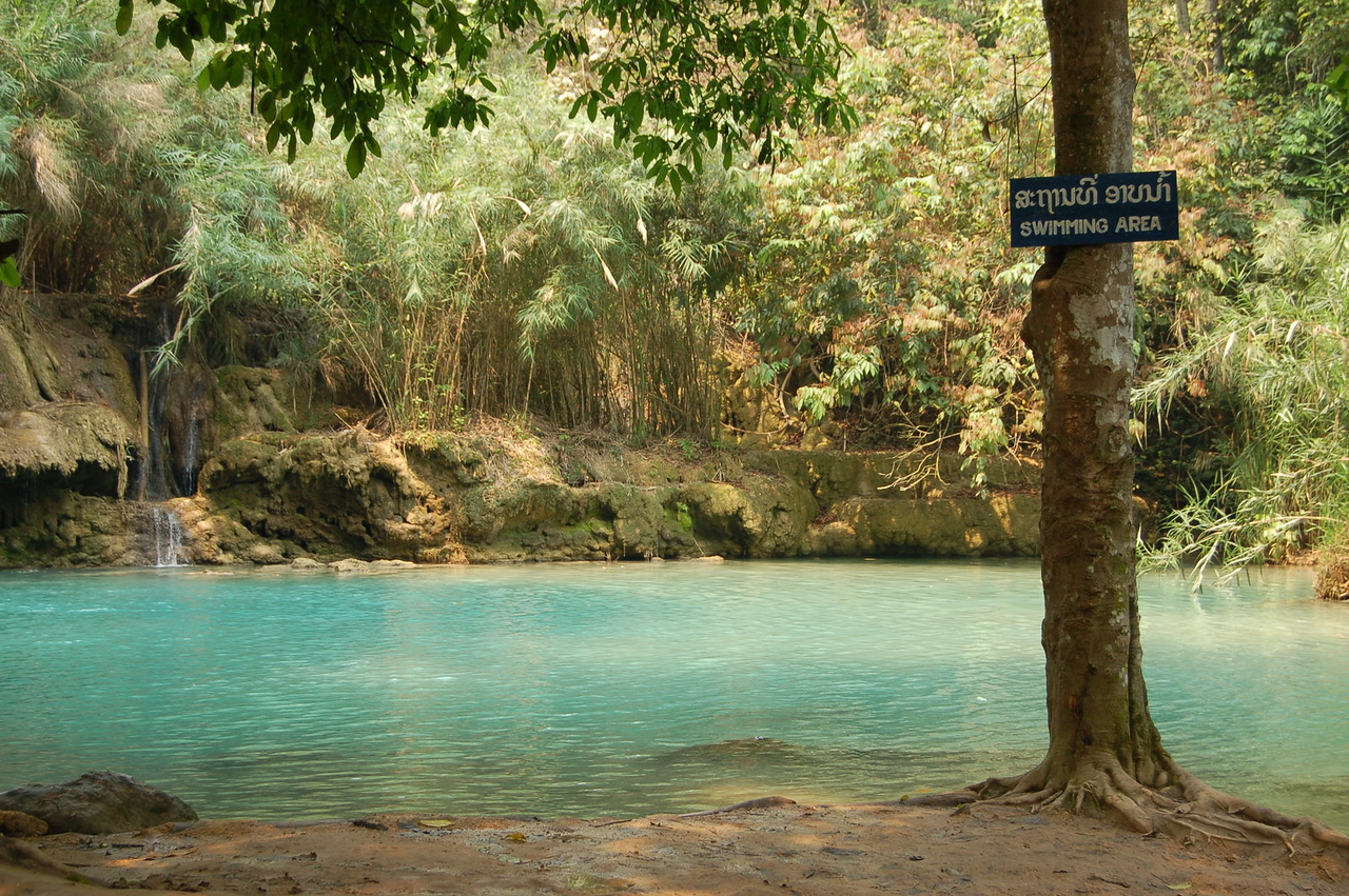 Blue water for swimming