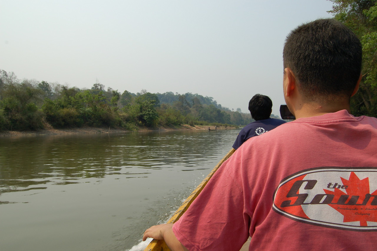 On the boat to the elephant sanctuary