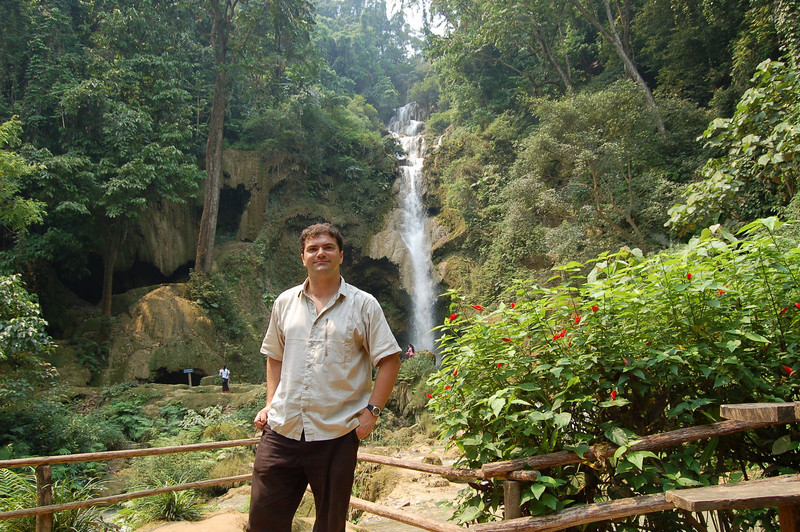 Matt at the waterfall 2