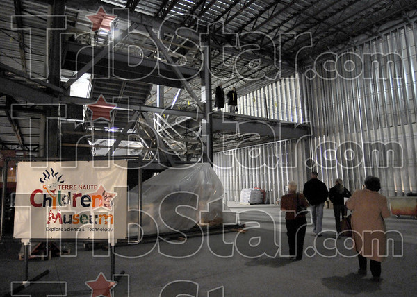 Hard hat tour: The interior of the Children's Museum was open for tours Thursday evening.