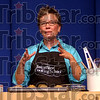 "Chief cook: Dana Elliott took center stage to teach from the ""Taste of Home Cookbook"" Thursday night in Hulman Center."