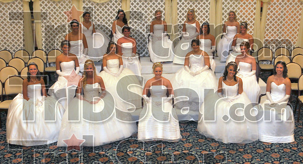 Coming out: The eighteen young ladies that were the center of attention at Saturday night's cotillion at St. Mary-of-the-Woods.