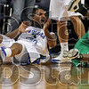 Foul? What foul?: Indiana State's Rashad Reed reacts to a foul called on him after he collided with North Texas' Josh White Sunday at Hulman Center.
