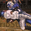 Quarterback catch: Rockville's James Kent tackles North Vermillion quarterback Carter Morgan after Morgan decided to keep the ball and run with it during the Rox' sectional win Friday at Rockville.