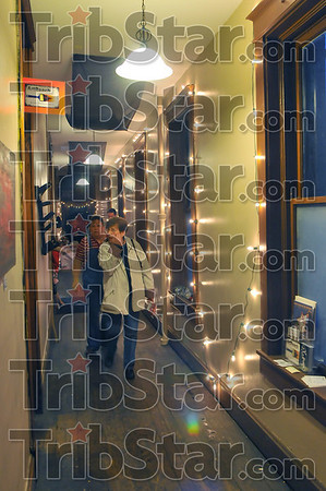 Deck the halls: The Artreach studio opened its doors to vendors Friday night for Christmas at the Crossroads. Along with Coco's and Modern Charm, the floor above the Crossroads Cafe was a big attraction.