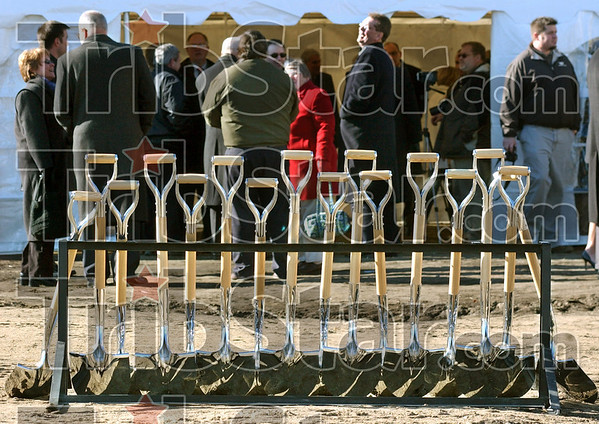 Ceremony: Participants gather at the New Federal Courthouse Groundbreaking Ceremony Friday afternoon.