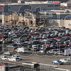 Full house: Shoppers fill nearly every parking space with their vehicles Friday morning at the Honey Creek Mall.