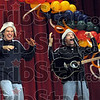 "Goofy hats: Greg and Steve get ""goofy"" when they put on their hats during Saturday's performance at Woodrow Wilson Middle School."
