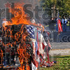 With all due respect: Some 1,000-1,200 flags were burned Saturday during the flag retirement ceremony at the Voiture 21 40/8. Burning is the only proper way to dispose of a flag.