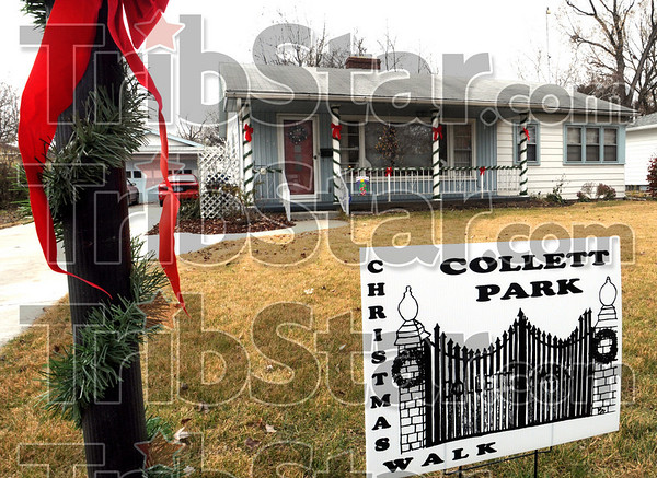 Christmas Walk: A home located at 2924 N. 12th street had almost 300 visitors during the annual Collett Park Christmas Craft Walk.
