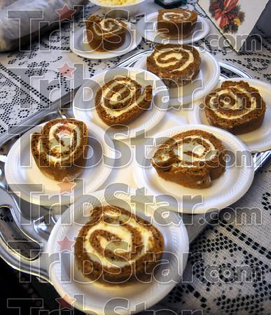 Sweet Nothings: Detail of pumpkin roll cake from 2430 N. 9th street.