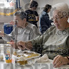 Dinner: Tony Costello and Phyllis Skorich enjoy a Thanksgiving meal at the Hillcrest Community Center in Clinton Saturday afternoon.
