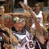 Driven: Terre Haute South's #15, Haley Seibert drives the ball to the basket during game action Saturday night.