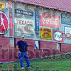 Travelling collector: Bob Turner has travelled as far as upper Michigan to buy old advertising signs for his collection.