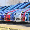 Ready now: New cars line up, ready for customers at Sycamore Chevrolet.