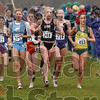 Chasing after 1, 2 and 3:  Competitors in the NCAA Div. I cross country championship 6,000-meter race chase after Virginia Tech's Tasmin Fanning,  Florida State's Susan Kuijken and Texas Tech's Sally Kipyego Monday on the Gibson Championship Course.