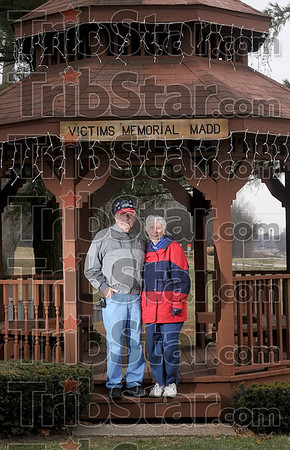 Supporting her service: During her 25 years of service in MADD, Marilyn Peffley's husband, Bob, was always there to lend his support. One of the projects that they worked on together was the MADD Victims Memorial gazebo at Deming Park.