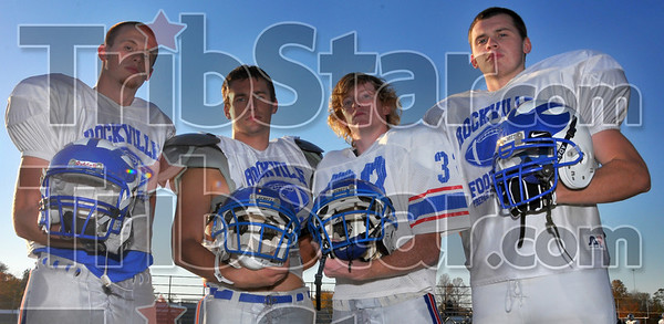 Fearsome foursome: Rockville's Aaron Bridge,Topfel Secuskie, Robert Cleavenger and Drew Kelley. The quarter of recievers have accounted for over 2,700  yards through the air so far this year.