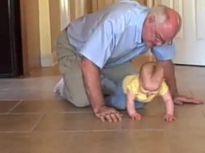 November 8, 2008 - Grandpa gets Anna.
