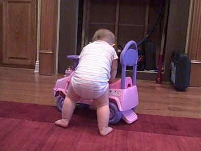 November 12, 2008 - Anna walks with a little help