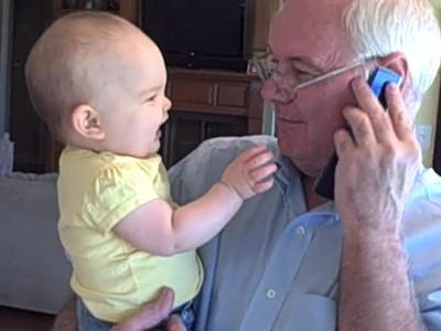 November 8, 2008 - Grandpa does Donald Duck.