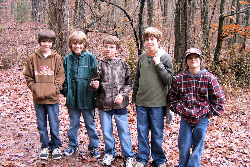 Webelos, Billy, Collin, Dylan, Jacob and Sergei
