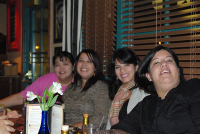 Dinner the night before Thanksgiving Veronica, Judy, Maria, and Marisa