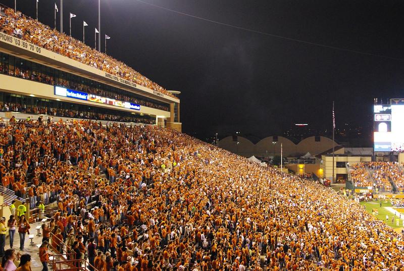 The massive crowd